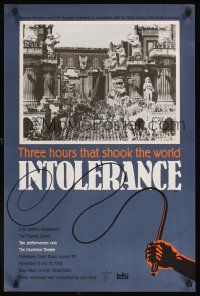 5j072 INTOLERANCE English double crown R88 D.W. Griffith, 3 hours that shook the world, different!