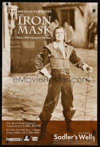 5j073 IRON MASK English double crown R99 best full-length portrait of Douglas Fairbanks, Sr!