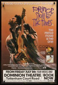 5j082 SIGN 'O' THE TIMES English double crown '87 rock & roll, great image of Prince with guitar!
