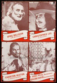 5j088 THREE MUSKETEERS English double crown '73 Chris Lee, Spike Milligan, Heston & Racquel Welch!