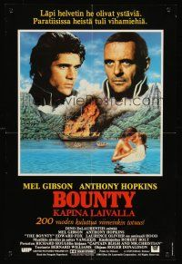 5j009 BOUNTY Finnish '84 Mel Gibson, Anthony Hopkins, Laurence Olivier, Mutiny on the Bounty!