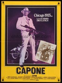 5j657 CAPONE French 23x32 '75 full-length image of gangster legend Ben Gazzara!