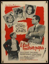 5j663 COURTSHIP OF EDDIE'S FATHER French 23x32 '63 Ron Howard helps Glenn Ford choose new mother!