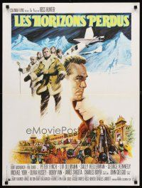 5j711 LOST HORIZON French 23x32 '72 Ross Hunter, Peter Finch, Liv Ullmann, art of Shangri-la!