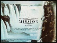 5j715 MISSION French 23x32 '86 Robert De Niro, Jeremy Irons, cool waterfall artwork!