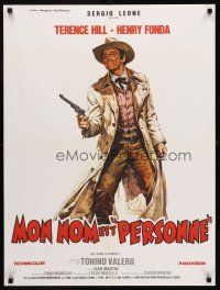5j718 MY NAME IS NOBODY style A French 24x32 R1980s Il Mio nome e Nessuno, Casaro art of Henry Fonda!