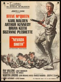 5j722 NEVADA SMITH French 23x32 '66 cool different image of Steve McQueen with rifle!