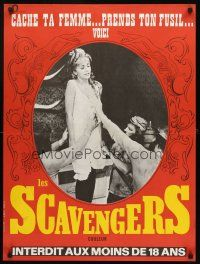 5j744 SCAVENGERS French 23x32 '68 Lee Frost directed, girl attacked in saloon bar!