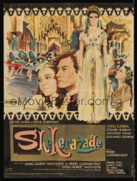 5j745 SCHEHERAZADE French 23x32 '63 wonderful art of elegant Anna Karina!