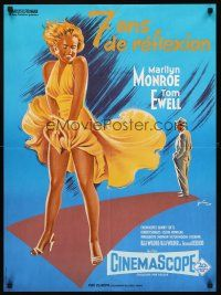 5j748 SEVEN YEAR ITCH French 23x32 R70s best art of Marilyn Monroe's skirt blowing by Grinsson!
