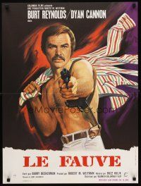 5j750 SHAMUS French 23x32 '73 barechested private detective Burt Reynolds, a pro that never misses!