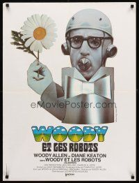 5j751 SLEEPER French 23x32 '74 Woody Allen, Diane Keaton, different wacky art by Bourduge!