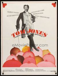 5j764 TOM JONES French 23x32 R70s wacky image of Albert Finney standing in mound of breasts!