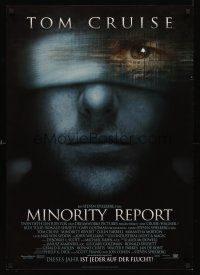 5j294 MINORITY REPORT German '02 Steven Spielberg, close-up image of Tom Cruise!