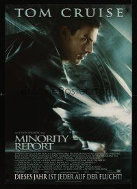 5j295 MINORITY REPORT German '02 Steven Spielberg, cool profile image of Tom Cruise!