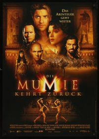 5j302 MUMMY RETURNS German '01 Brendan Fraser, Rachel Weisz, Dwayne Johnson!