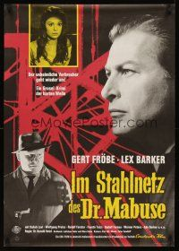 5j311 RETURN OF DR MABUSE German '62 Gert Froebe, Lex Barker, Daliah Lavi!
