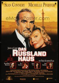 5j313 RUSSIA HOUSE German '91 great close-up of Sean Connery & Michelle Pfeiffer!