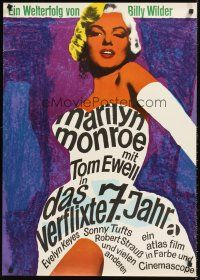 5j314 SEVEN YEAR ITCH German R66 Billy Wilder, great sexy art of Marilyn Monroe!