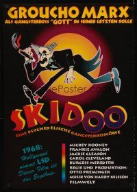5j315 SKIDOO German R90s Otto Preminger, great Hirschfeld-like artwork of Groucho Marx!