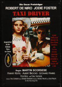 5j319 TAXI DRIVER German R82 Martin Scorsese directed classic, Jodie Foster & De Niro in cab!