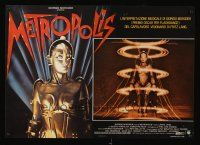 5j168 METROPOLIS Italian photobusta R84 Fritz Lang classic, great art of female robot!