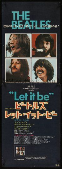 5j032 LET IT BE Japanese 2p '70 The Beatles, Lennon, Paul McCartney, Ringo Starr, George Harrison!