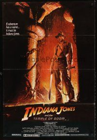5j022 INDIANA JONES & THE TEMPLE OF DOOM Lebanese '84 art of Harrison Ford by Bruce Wolfe!