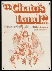 5j095 CHATO'S LAND New Zealand '72 what Charles Bronson's land won't kill, he will!
