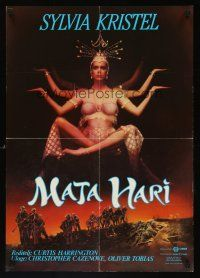 5j242 MATA HARI Yugoslavian '85 Curtis Harrington, art of sexy Sylvia Kristel!