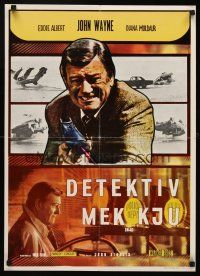 5j243 McQ Yugoslavian '74 John Sturges, John Wayne is a busted cop with an unlicensed gun!