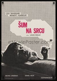 5j246 MURMUR OF THE HEART Yugoslavian '71 Louis Malle's Le Souffle Au Coeur, cool smoking design!