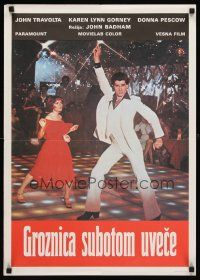 5j254 SATURDAY NIGHT FEVER Yugoslavian '77 disco dancer John Travolta & Karen Lynn Gorney!