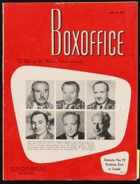 5m073 BOX OFFICE exhibitor magazine June 22, 1959 North by Northwest, Frank Sinatra fold-out!
