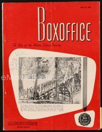 5m072 BOX OFFICE exhibitor magazine May 12, 1958 King Creole & Thunder Road 2-page ads!