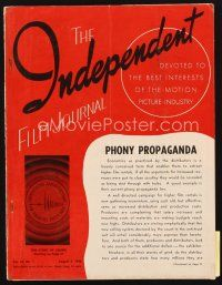 5m070 INDEPENDENT FILM JOURNAL exhibitor magazine Aug 3 1946 best Notorious, Warner Bros fold-out!