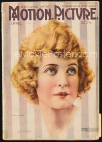 5m096 MOTION PICTURE magazine April 1918 artwork of pretty May Allison by Leo Sielke Jr.!