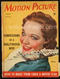 5m109 MOTION PICTURE magazine August 1934 art of pretty Evalyn Venable by Marland Stone!