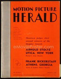 5m065 MOTION PICTURE HERALD exhibitor magazine Jan 31, 1942 Sullivan's Travels, Woman of the Year!