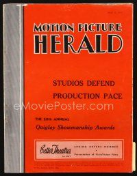 5m067 MOTION PICTURE HERALD exhibitor magazine May 8, 1954 Dial M for Murder, cool promotions!