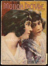 5m105 MOTION PICTURE magazine January 1919 art of Dorothy Gish looking in mirror by Leo Sielke Jr.