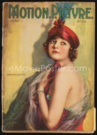 5m098 MOTION PICTURE magazine June 1918 artwork of sexy Corinne Griffith by Leo Sielke Jr.!