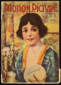 5m095 MOTION PICTURE magazine March 1918 wonderful art of Norma Talmadge by Leo Sielke Jr.!