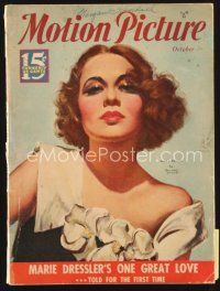 5m111 MOTION PICTURE magazine October 1934 wonderful art of sexy Mary Brian by Marland Stone!