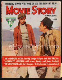 5m116 MOVIE STORY magazine April 1940 Ginger Rogers & Joel McCrea in The Primrose Path!