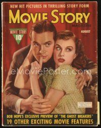 5m120 MOVIE STORY magazine August 1940 Paulette Goddard & Bob Hope in The Ghost Breakers!