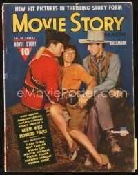 5m124 MOVIE STORY magazine Dec 1940 Gary Cooper & Paulette Goddard in North West Mounted Police!
