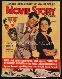 5m113 MOVIE STORY magazine January 1940 Cary Grant & Rosalind Russell in His Girl Friday!