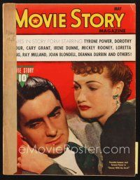5m117 MOVIE STORY magazine May 1940 Dorothy Lamour & Tyrone Power in Dance with the Devil!