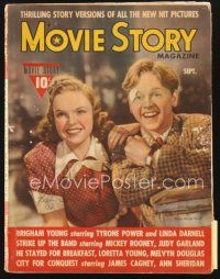 5m121 MOVIE STORY magazine September 1940 Judy Garland & Mickey Rooney in Strike Up the Band!